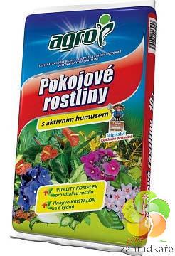 Substrát AGRO pro pokojové rostliny s aktivním humusem 10 l