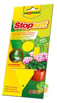 STOPSET - žluté lepové šipky na hmyz