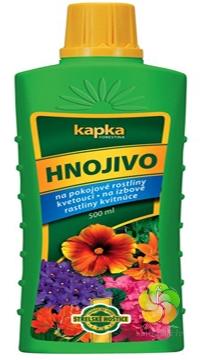 Kapalné hnojivo pro pokojové rostliny kvetoucí 0,5 l Forestina KAPKA