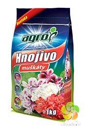 AGRO organo-minerální hnojivo pro muškáty 1 kg