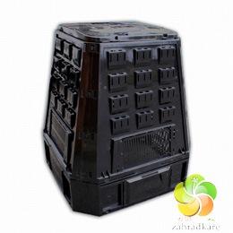 Komposter 400 l plastový černý 80x80x80