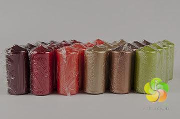 Svíčka adventní 4x8 cm CHR (4ks)metal - zvolte barvu (0325)