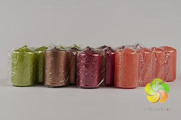 Svíčka adventní 4 x 6 cm, metal CHR(4ks) - zvolte barvu (2010)