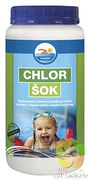 Chlor šok - bazénová chemie 1,2 kg
