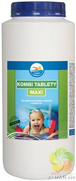 Kombi tablety MAXI 2,4 kg - bazénová chemie