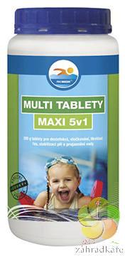 Multi tablety MAXI 1 kg - bazénová chemie (5v1)