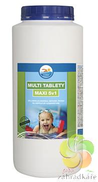 Multi tablety MAXI 2,4kg - bazénová chemie (5v1)