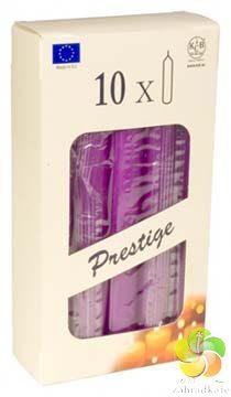 Svíčka - Domácí 10ks 19,5 x 180 mm tmavě fialová RAL (2750)