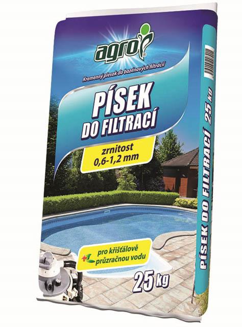 Písek do bazénových filtrací 0,6-1,2mm 25kg