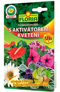 Tyčinkové hnojivo Floria s aktivátorem kvetení 12 ks