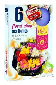 Svíčka čajová 6ks Floral Shop vonné (22905)
