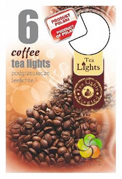 Svíčka čajová 6 ks Coffee vonná (21225)