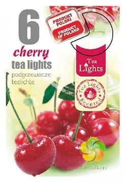 Svíčka čajová 6 ks Cherry vonná (21223)
