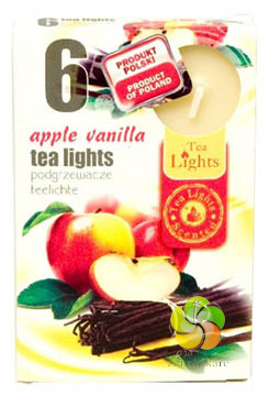 Svíčka čajová 6ks Apple Vanilla vonná (20485)