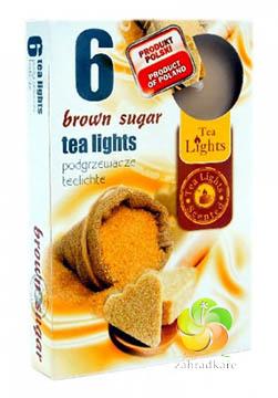 Svíčka čajová 6ks Brown Sugar vonná (22902)