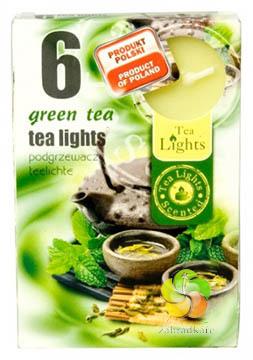 Svíčka čajová 6ks Green Tea vonná (22055)