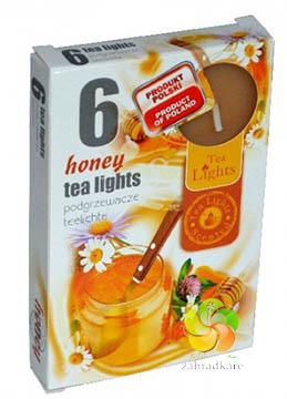 Svíčka čajová 6ks Honey vonná (22637)