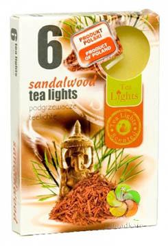 Svíčka čajová 6ks Sandalwood vonná (22633)