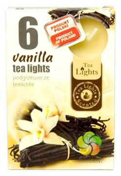 Svíčka čajová 6ks Vanilla vonná (21220)