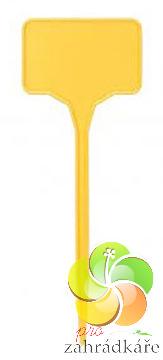 Jmenovka plastová žlutá 15 ks v balení