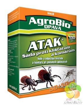 ATAK - Sada proti klíšťatům a komárům 50 + 50 ml
