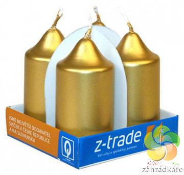 Svíčka adventní 40x75 zlatá 4ks