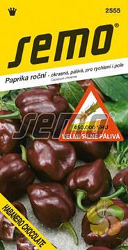 Paprika roční Habanero Chocolate - pálivá (2555)