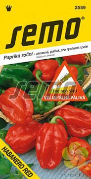 Paprika roční Habanero Red - pálivá (2559)