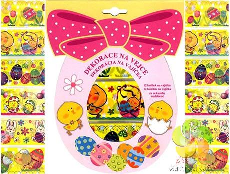 Smršťovací dekorace na vejce kuřátka 12ks v balení