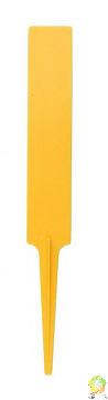 Jmenovka plastová 14 cm - 15 ks v balení /žlutý(úzký)