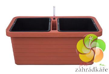 Truhlík samozavlažovací Berberis DUO teraccota D 78 x +S 39 x V 35 cm