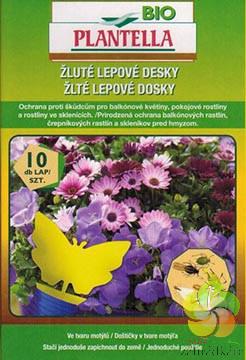 Bio Plantella - žluté lepové desky (tvaru motýla) na hmyz 10 ks