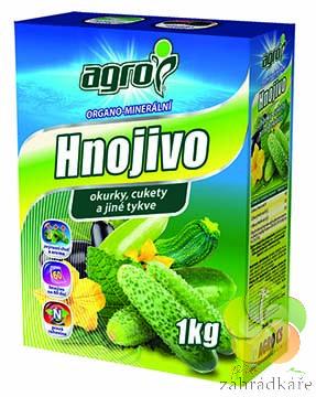 Organominerální hnojivo pro okurky, cukety a jiné tykve 1 kg Organo-minerální hnojivo pro cibuli a česnek 1kg