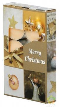 Svíčka čajová 6ks Merry Christmas vonné
