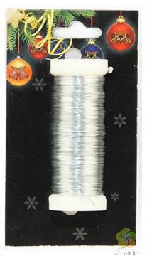 Drátek vázací 30m stříbrný