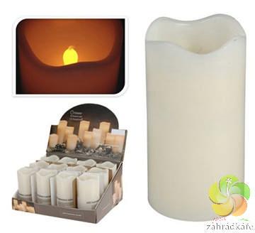 LED svíčka 70x130 parafín s časovačem slonová kost