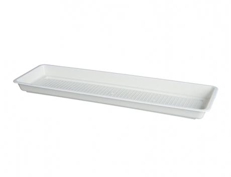 Miska pod truhlík Garden (Pelargonie) - bílá 100 cm