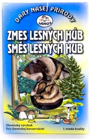 Směs lesních hub - krájené 20 g (sušené houby)