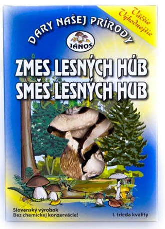 Směs lesních hub - krájené 50 g (sušené houby)