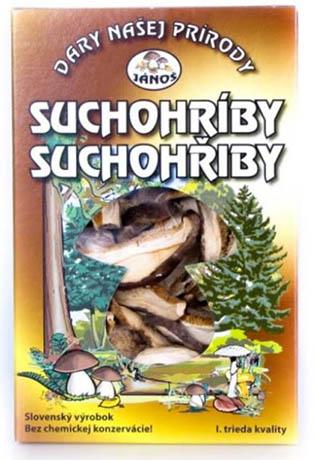 Suchohřiby - krájené 20 g (sušené houby)