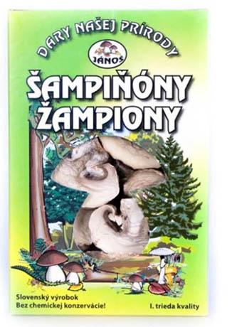 Žampiony - krájené 20 g (sušené houby)
