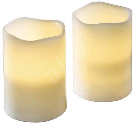 LED svíčka dekorativní LC2 7,5 x 12,5cm + 2ks AA baterie