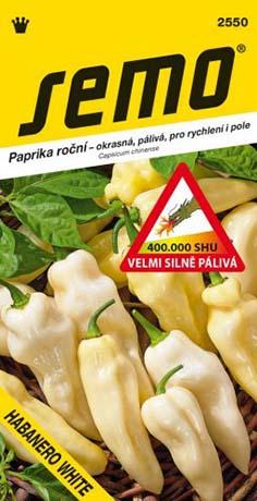 Paprika roční pálivá Habanero White (2550)
