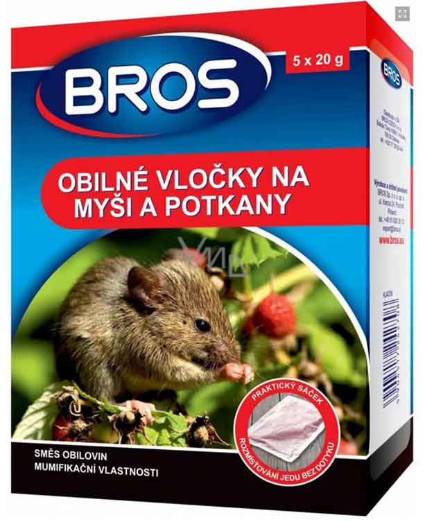 Bros granule na myši a potkany 7x20g - (140g)