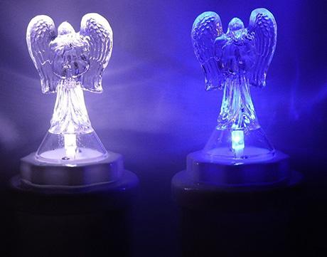 LED ANDĚL modrý 13 cm
