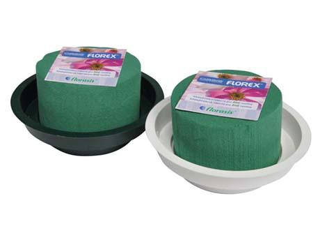 Stolní aranžovací miska OASIS Junior miska zelená průměr 12 cm , hmota 8 x 5 cm