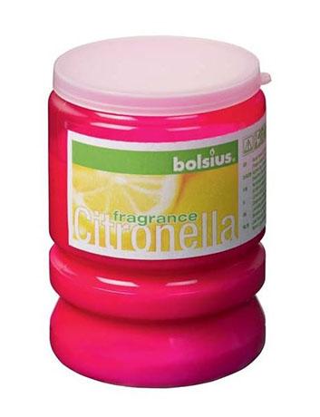 Citronella Partylight 65x86 mm fuchsiově růžová, vonná svíčka